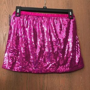 Magenta sequin skirt